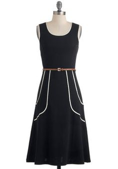 Outline of Work Dress in Black, #ModCloth