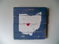 Love Columbus Ohio Wooden Wall Art Hanging. $30.00, via Etsy.