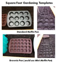 Square Foot Gardening Template Options -WOW I never would've thought of this but seeing it, it is so simple!