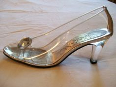 Silver Wedding Shoes and Glass Slippers