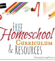 This is an amazing list of FREE #homeschool curriculum & resources. Lots of printables and much more!