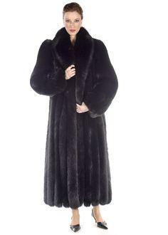 Black Fox Fur Coat