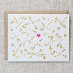 wall art, arrows, gotcha card, valentine day cards, wedding invitations, valentine cards, chalkboard art, diy, anniversary cards