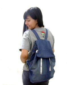 Back to School DIY - Make a Backpack from an Old Jeans