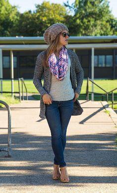 Plaid Scarf - super cute outfit