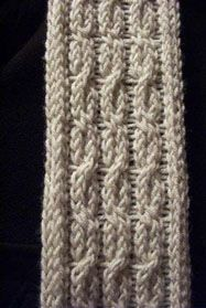 Free Loom Pattern kbcablescarf Loom-Knit Cables and Lace Scarf : Lion Brand Yarn Company