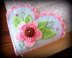 Felt Bookmark Heart