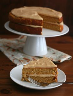 GF Pumpkin Spice Cake with Brown Butter Frosting