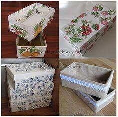 El jardin de los sue os cajas de zapatos - Manualidades con cajas de zapatos ...