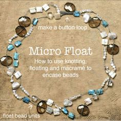 How to Make a Micro Float using macrame thread