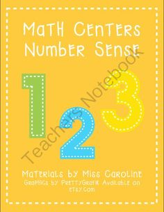 Number Sense Centers from Miss Caroline on TeachersNotebook.com -  (46 pages)  - Printable math centers for number sense. Perfect for engaging young learners in active learning.