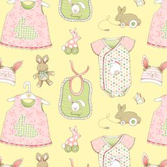Bunnies for Baby fabric by pattysloniger on Spoonflower - custom fabric