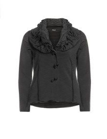 Boris Elegant sweat fabric jacket Grey / Black