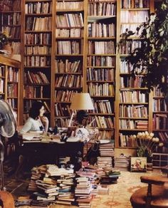 Books everywhere comfort me.