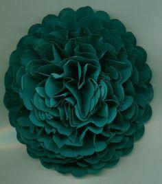 Teal Handmade Carnation Paper Flower