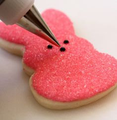 Peep sugar cookie tutorial.  Too cute!