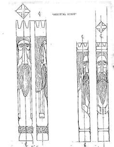 Wood Carving patterns free medieval king