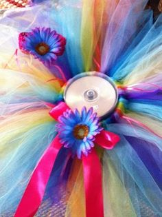 DIY tutu & hair bow, so excited to have a niece! =)