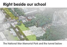 Road safety education news. July 16 2013. Booklet published online about the highway tunnel being built in Wellington to make room for the National War Memorial Park.