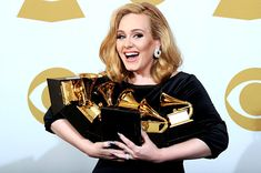 "Adele @ The Grammys: Proof that a woman doesn't need to dress like a slut, starve herself thin or employ any ""gimmicks"" to achieve success in the music industry. Here's to a geuninely talented and elegant young woman who deserves every award she received last night."
