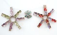 Toilet Paper Tube star garland (from Creative Jewish Mom)