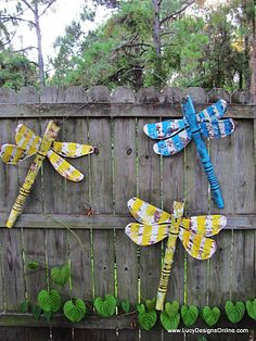 Dragonflies diy...lots of ideas!