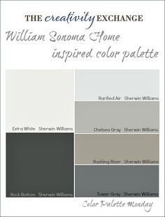 William Sonoma Home Inspired Paint Color Palette {Color Palette Monday #6} The Creativity Exchange