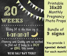 Printable Pregnancy Countdown Chalkboard by ChalkingItUpBoards, $35.00