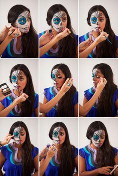DIY Paint a Sugar Skull Tutorial ==> http://www.craftdiyideas.com/diy-paint-a-sugar-skull-tutorial/