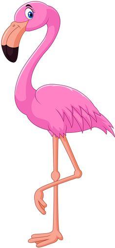 Flamingo eating clip art