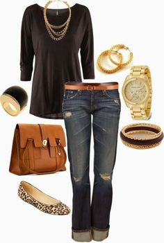 jean, fashion, style, fall outfit, animal prints, casual fridays, casual outfits, shoe, shirt