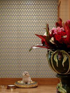 papel de parede geométrico #rosenbaum #wallpaper #decor