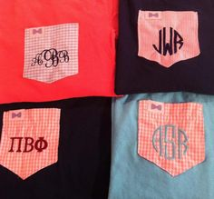 the only thing better than a frat collection tee, is a monogrammed frat collection tee! ;)