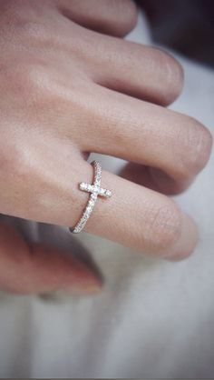 CZ Ring Sideways Cross at Kellinsilver – cz sidesays cross ring, sideways cross, sideways cross ring, cross jewelry
