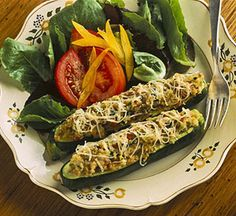 Healthy Recipes that are Fun for Kids: Zucchini Cheese Boats (via Parents.com)