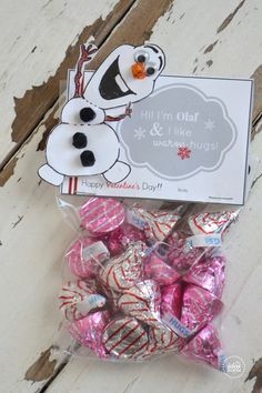Olaf Valentine's - FREE printables from The Idea Room