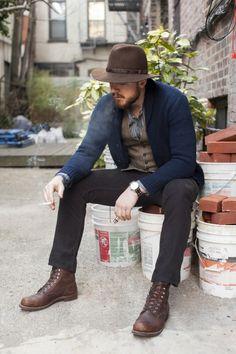 loving the hat :: #menswear #style