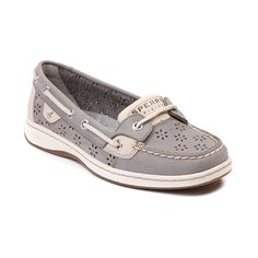Womens Sperry Top-Sider Angelfish Perfs Boat Shoe in Gray | Shi by Journeys~these are also a pair that I need in my closet!!! #operationdreamcloset