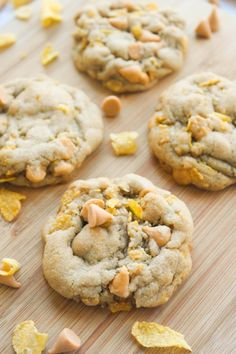 Butterscotch Cornflake Cookies