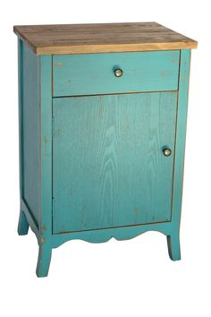 Teal End Table   (Brave)