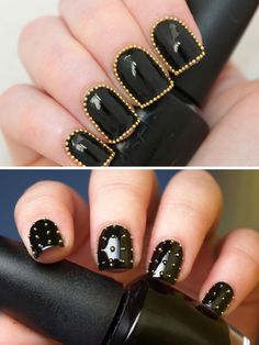 Wow! Nails with studs!