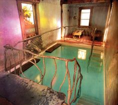 Reflecting pool: Harbin Hot Springs in Lake County, CA