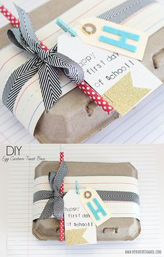 Teacher Gift Wrapping Idea. Cute DIY gift idea for Back to School!
