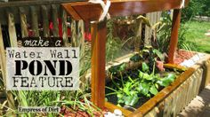 The secret to making a water wall pond feature in your garden