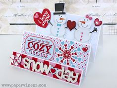 PaperVine: Day One: Snow Day Card Tutorial & UNIQUE GIVEAWAY
