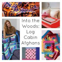 Log Cabin Afghans Into the Woods: 8 Log Cabin Afghans