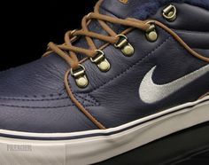 It's unlikely that we'll ever see a sneaker eclipse the Dunk in terms of popularity out of Nike SB, but for what it's worth 2011 saw the humble Nike SB Janoski Mid quietly climbing the ladder with a string of hot releases. The material selection has been particularly on-point, as echoed with the latest 'Inuit' version, an Eskimo-bundled sneaker with a warm fur lining on the insides and some boot like design cues for the upper. The mid-height even gives them a bit more coverage than your average skate sneaker, extending their life as a weather ready shoe. Follow us after the jump for some extra angles and be on the lookout for this quickstrike drop at Nike SB accounts like Premier.