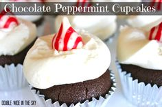 Double-Wide in the Sky: Chocolate Peppermint Cupcakes