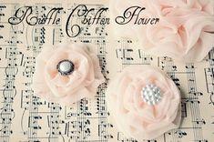 Ruffle chiffon flowers--gorgeous!