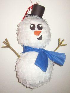 Custom Snowman Pinata Jolly Holiday Collection by PinataMama, $30.00